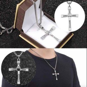 Stainless Steel Cross Pendant Necklace Uni…